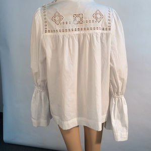 Free People Woman's Blouse Top White Large